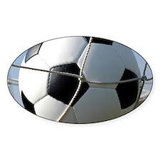 Football Ball In Net Decal