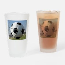 Football Ball In Net Drinking Glass