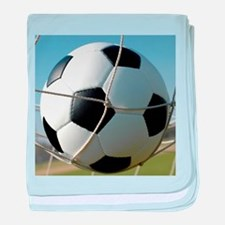Football Ball In Net baby blanket