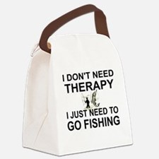 Cute Fishing Canvas Lunch Bag