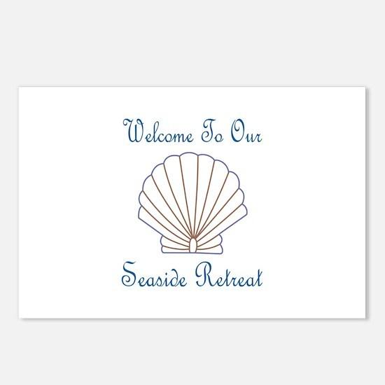 Seaside Retreat Applique Postcards (Package of 8)