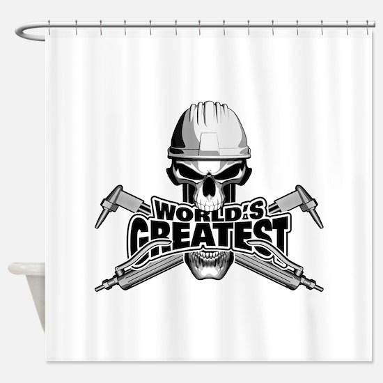 World's Greatest Welder Shower Curtain