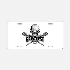 World's Greatest Ironworker Aluminum License P