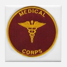 Army Medical Corps Tile Coaster