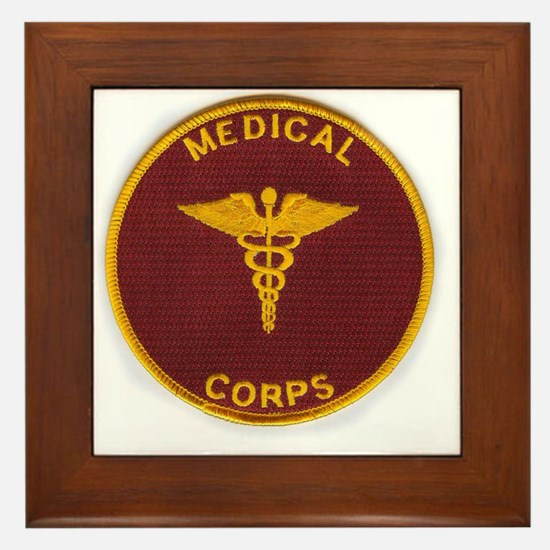 Army Medical Corps Framed Tile