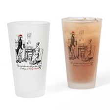 Ardently Merry Christmas Drinking Glass
