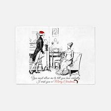 Ardently Merry Christmas 5'x7'Area Rug