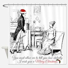 Ardently Merry Christmas Shower Curtain