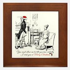 Ardently Merry Christmas Framed Tile