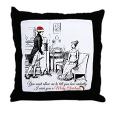 Ardently Merry Christmas Throw Pillow