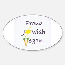 Cool Proud vegetarian Sticker (Oval)