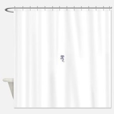 White Tiger Climbing.bmp Shower Curtain