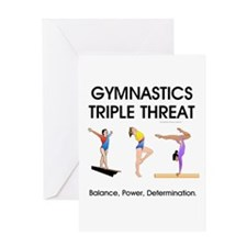 TOP Gymnastics Slogan Greeting Card