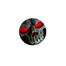Red Eyed Skull Mini Button (10 pack)
