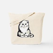 Cute White Persian Kitten Tote Bag