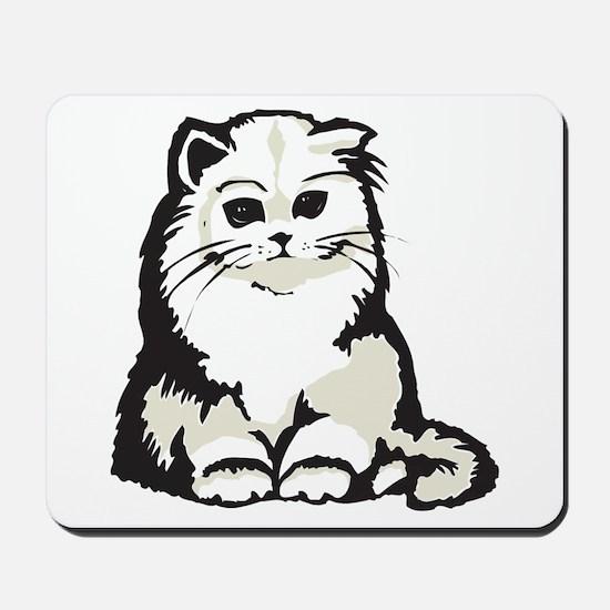Cute White Persian Kitten Mousepad