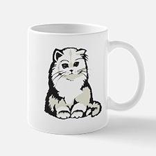 Cute White Persian Kitten Mug