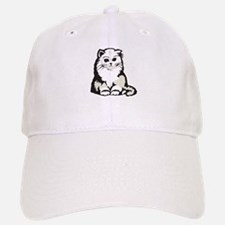 Cute White Persian Kitten Baseball Baseball Cap