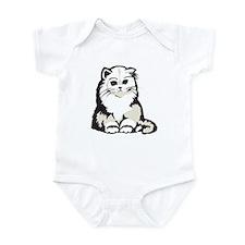 Cute White Persian Kitten Infant Bodysuit