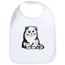 Cute White Persian Kitten Bib