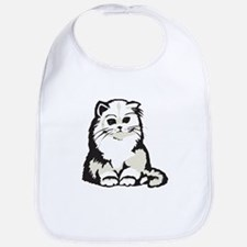 Cute White Persian Kitten Bib