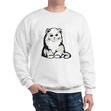 Cute White Persian Kitten Sweatshirt
