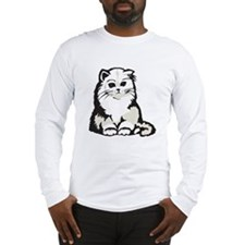 Cute White Persian Kitten Long Sleeve T-Shirt