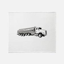 Tanker Truck Throw Blanket