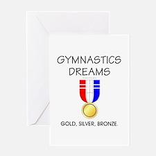 TOP Gymnastics Dreams Greeting Card