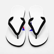 Balance the USA Yin Yang Flip Flops