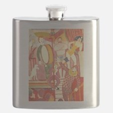 Circus Art - from a vintage circus poster b Flask