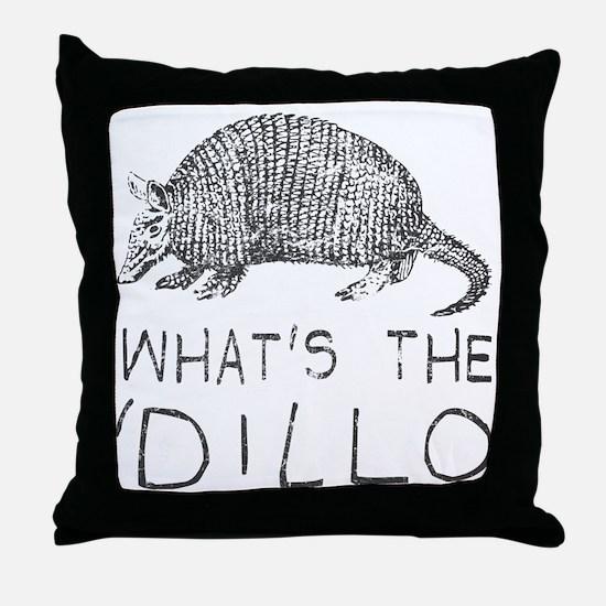 Cool Armadillo Throw Pillow