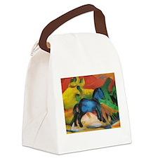 Das Blaue Pferdchen by Franz Marc Canvas Lunch Bag