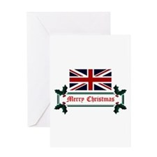 Funny Flags british Greeting Card