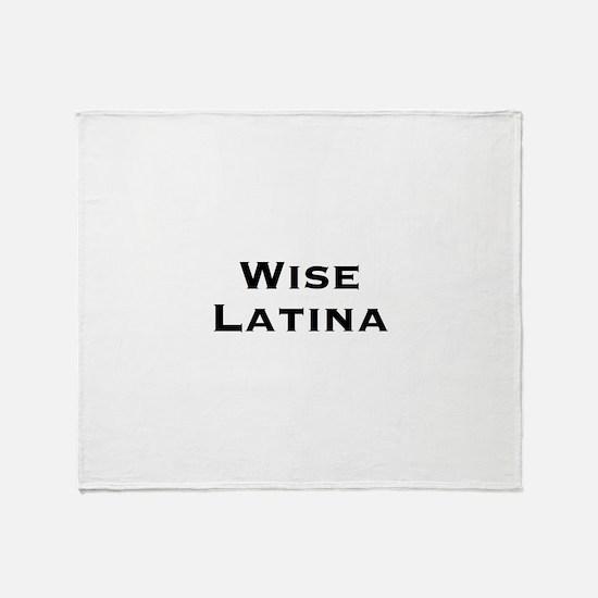 Wise Latina Throw Blanket