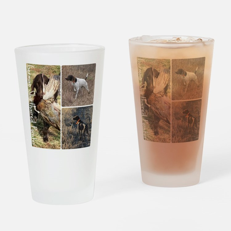 Cute German shorthaired pointer Drinking Glass