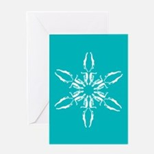 Cute Triathlon snowflake Greeting Card