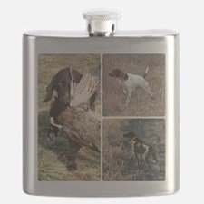 Cute German shorthaired pointer Flask