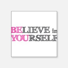 """Cute Motivational work quotes Square Sticker 3"""" x 3"""""""