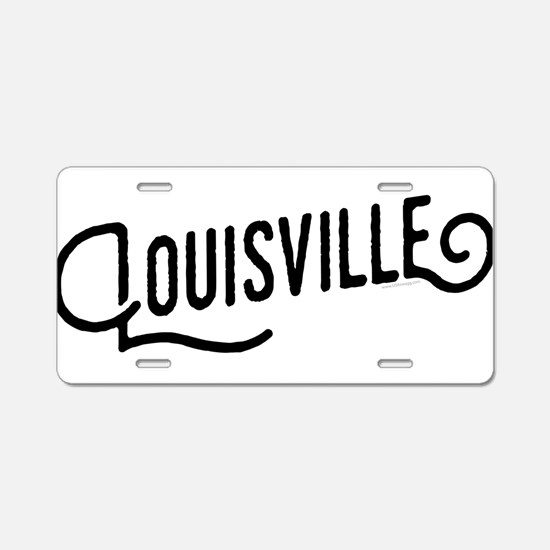 Louisville, Kentucky Aluminum License Plate