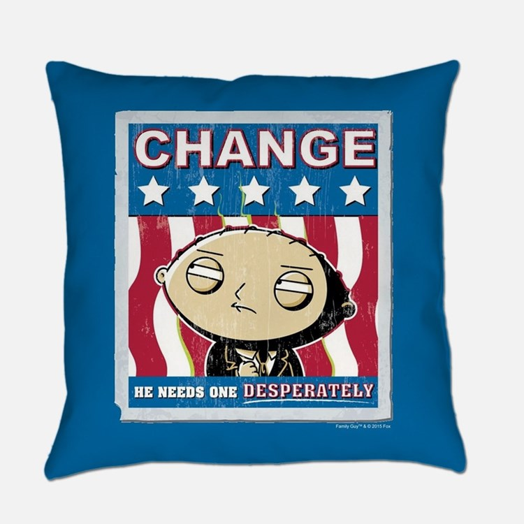 Family Guy Stewie Change Everyday Pillow