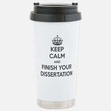 Funny Dissertation Travel Mug