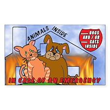 Pet Emergency Decal Sticker (Rectangular)