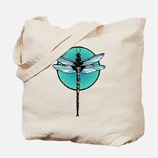 Teal Dragonfly Tote Bag