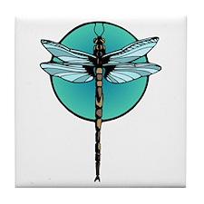 Teal Dragonfly Tile Coaster