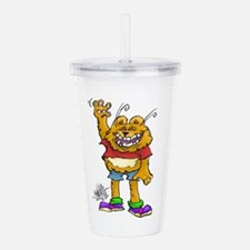 Friendly cat. Acrylic Double-wall Tumbler
