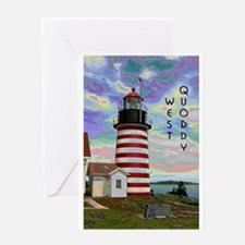 Cool Scenic maine lighthouse Greeting Card