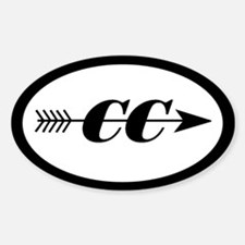 Cross Country Oval Decal