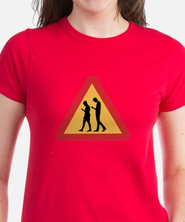 Mobile Zombie Warning, Sweden Women's Dark T-Shirt