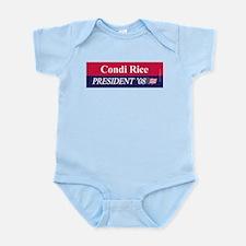 """Condi Rice for President"" Infant Creeper"
